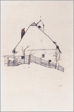 Wall sticker  Residential house with fence - Egon Schiele