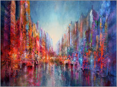 Wall sticker  city on the river 2 - Annette Schmucker