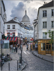 Wall sticker  Streets of Montmartre and Sacre Coeur - Jan Christopher Becke