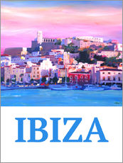 Wall sticker  Retro Poster Ibiza Old Town and Harbour Pearl Of the Mediterranean - M. Bleichner
