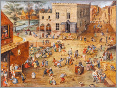 Canvas print  Children's games - Pieter Brueghel d.J.