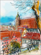 Gallery print  Pirna, View to the Church of St. Mary - Hartmut Buse