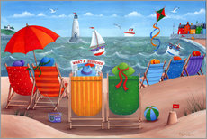Wall sticker  Beach scene - Peter Adderley