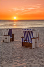Gallery print  Sunset at the Baltic Sea Beach