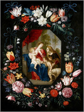 Gallery print  The Virgin Mary and the Christ Child - Jan Brueghel d.J.