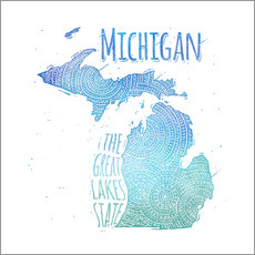 Wall sticker michigan