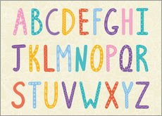 Wall sticker  Colorful ABC letters - Typobox