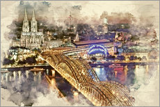 Gallery print  Cologne Skyline Cologne Cathedral - Peter Roder