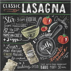 Wall sticker  Classic Lasagna recipe - Lily & Val