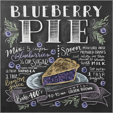 Gallery print  Blueberry pie recipe - Lily & Val