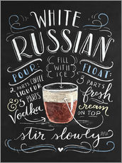 Gallery print  white russian - Lily & Val