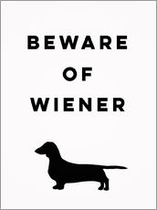 Wall sticker Beware of Wiener