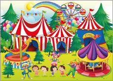 Wall sticker Colorful circus