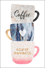 Wall sticker  A cup of happiness - Elisabeth Fredriksson