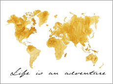 Wall sticker  World map - Nadine Conrad