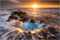 Gallery print  Pools of Paradise during Sunset at the Coast of Hawaii (Big Island) - Markus Ulrich