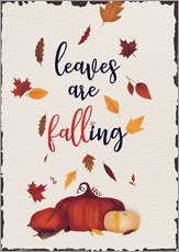 Gallery print  leaves are falling - Sybille Sterk