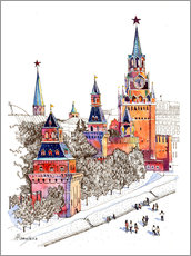 Wall sticker  Kremlin, Red Square, Moscow - Anastasia Mamoshina