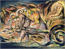 Gallery print  Chariots of Fire - William Blake