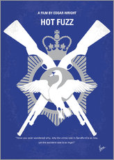 Wall Sticker  No847 My Hot Fuzz minimal movie poster - chungkong