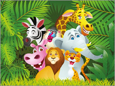 Wall sticker My jungle animals