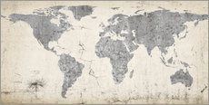 Wall sticker  Vintage world map