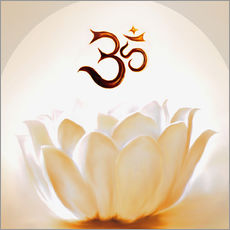 Wall sticker  Lotus with Om - Christine Ganz