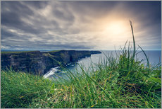 Wall sticker  View over the cliffs of Moher, Ireland