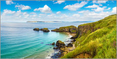 Gallery print  Coast of Northern Ireland on a beautiful summer day
