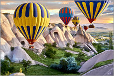 Wall sticker  Balloons over the Tuff Rock of Turkey