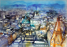 Wall sticker  Vienna View from St. Stephen's Cathedral - Johann Pickl
