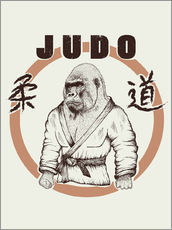 Wall sticker  Judo Art