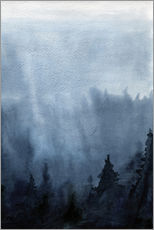 Gallery print  Mist over the forest