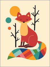 Wall sticker  Rainbow Fox - Andy Westface