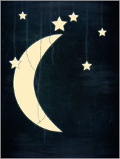 Wall sticker Moon and stars