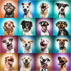 Wall sticker More funny dog faces