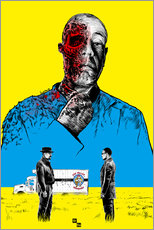 Wall sticker  Breaking Bad Gus Fring death whit blood - Paola Morpheus