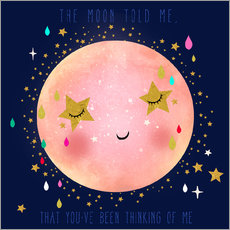 Wall sticker  The moon told me - Elisandra Sevenstar