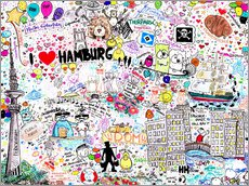 Wall sticker  Hamburg - SaRidie-arts