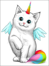 Wall sticker  Cat unicorn - Nikita Korenkov