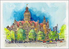 Gallery Print  Leipzig New Town Hall - Hartmut Buse