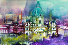 Gallery print  Vienna, Karls Church - Johann Pickl