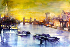 Gallery print  London at sunset from the Angel - Johann Pickl