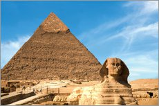 Wall sticker  Sphinx in front of the Great Pyramid - Miva Stock