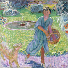 Wall sticker  Girl Playing with a Dog - Pierre Bonnard
