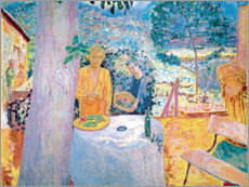 Acrylic print  The terrace in Vernon - Pierre Bonnard