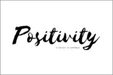 Gallery print  positivity is the key to happiness - Ohkimiko