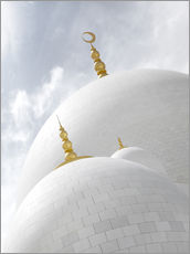 Wall sticker  white cupolas of sheikh zayed mosque