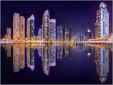 Gallery Print  The beauty of the marina in Dubai