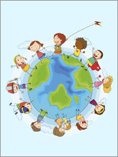 Wall sticker  Children of the world - Kidz Collection